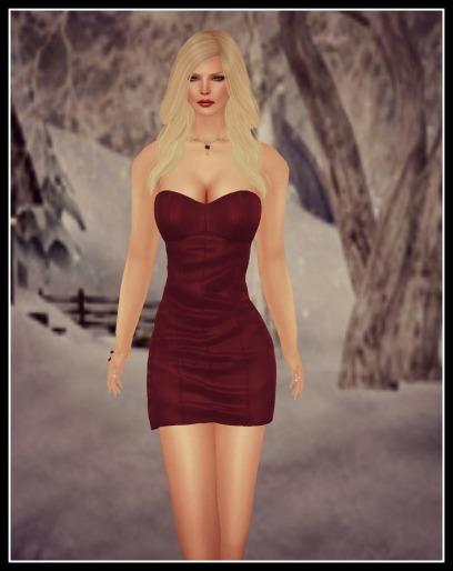ducknipple nora dress, cz gloriana red set_001