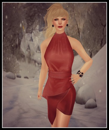 vm syl skirt set red leather_001