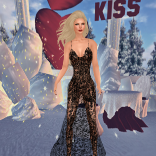 Paisley Daisy Crystal Drops Love Sheer Gown