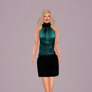 vm lady skirt set cyan_001