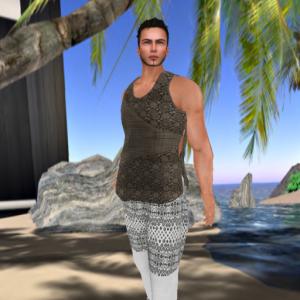 bravura bali breeches white linen, doublezipped tee bali palm_001