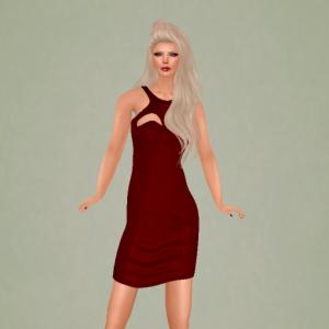kelini caprice leather dress red_002