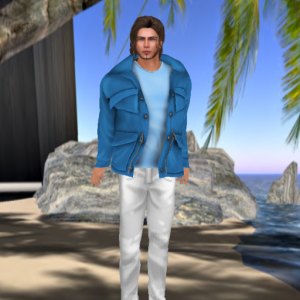 Men's Spring Outfit in Blue