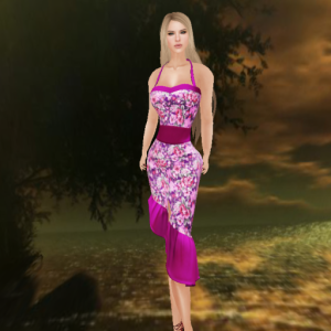 kaithleen's rockabilly floral dress pink, 7ds stefanie_001