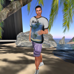 zed sensations bali tshirt v1, new wave surfer shorts, moondance mens constantine jewelry_001