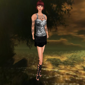 lavian all I wanna do outfit and robin boots, white widow lost river_001