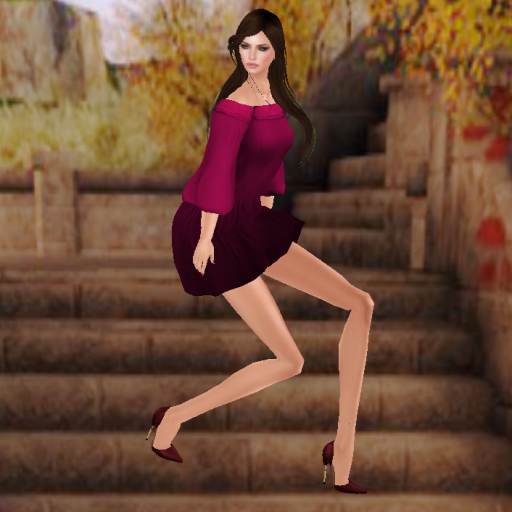 something new check out my shoes pose 1, kaithleens indian dress red_001