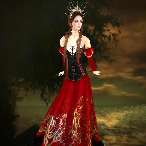 twa selluvia maloria gown set ruby_001