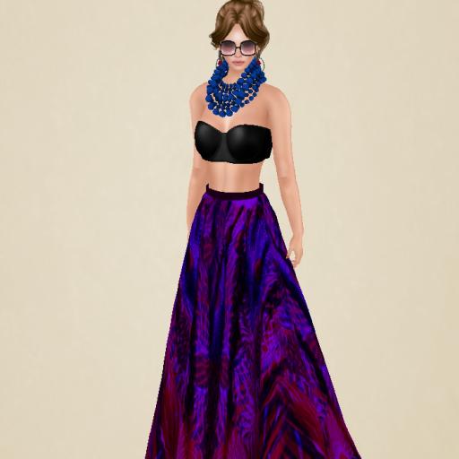 vm long story skirt set purple_001
