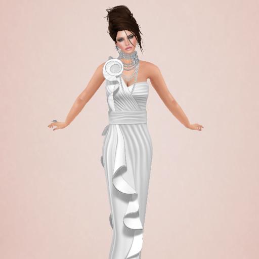 kelini rose dress white, zuris charlotte bridal white_001