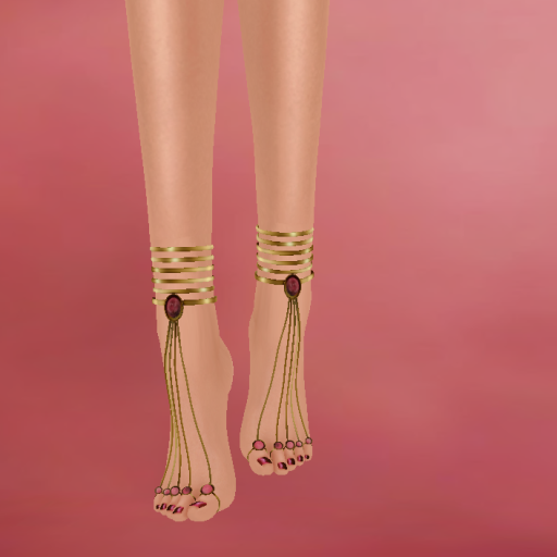apply me lennie cassandra anklet ruby gold_001