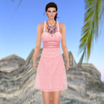 Dodge Dress in Strawberry