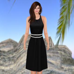 Louise Dress in Onyx