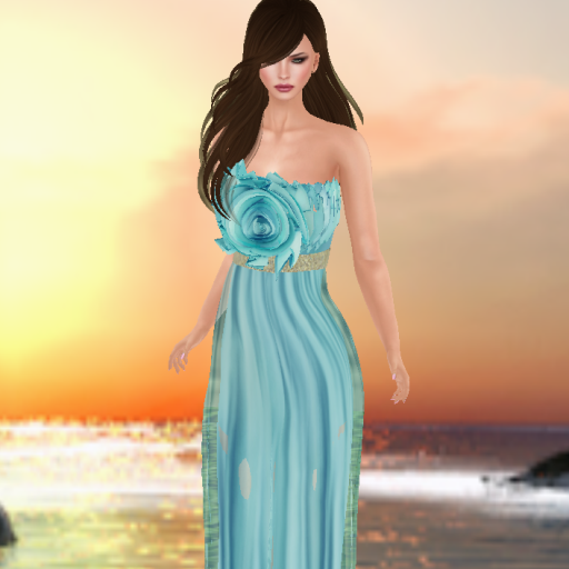 gizza cecelia dress blue_001