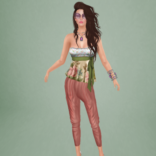 gizza melanie outfit vintage, oversized cat eye sunglasses floral relief_001