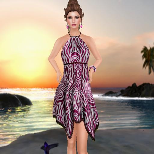 topazia enorela summer dress duo animal pink_001