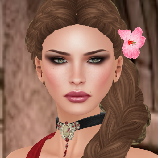 muse hibiscus hair flower pink gold_001