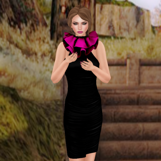 bender chelsea dress black and cerise_001