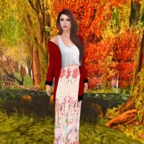 Alin skirt set in Boho floral
