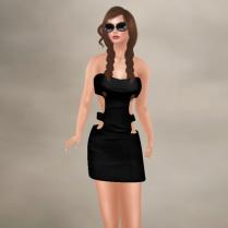 Anna black dress and sunglasses 15-3