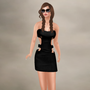 Anna black dress and sunglasses 15-3