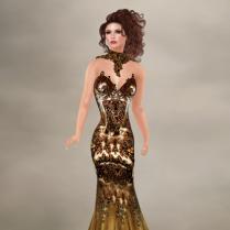 Armour dark gold gown