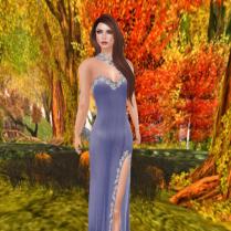 Creamy Angel gown in Purple