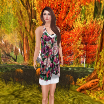 Ela dress in Roses