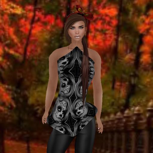byrne freaky calavera black rare corset, 7ds venus v1_001