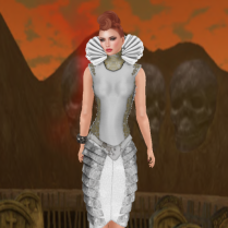 Vivienne corset high ruff top and Xia skirt